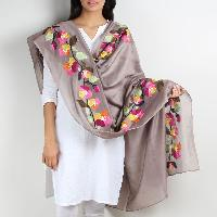 Floral Silk Dupatta 06