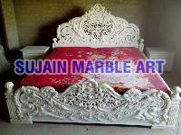 White Marble Bed 01