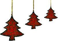 Hanging Christmas Trees