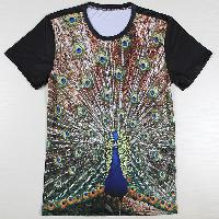 Mens Embroidered Round Neck T-Shirts