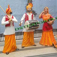 Punjabi Wedding Bhangra Statue