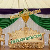 Royal Asian Wedding Gold Furniture Set