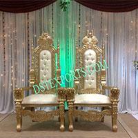 Wedding Golden Bride Groom Chair
