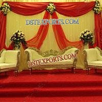 Wedding Golden Sofa Set
