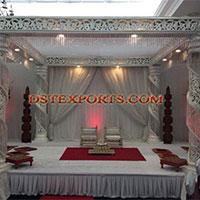 Wedding Square Crystal Mandap