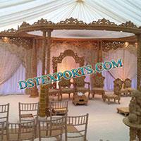 Wedding Wooden Double Pillar Mandap