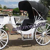 White Victoria Carriage