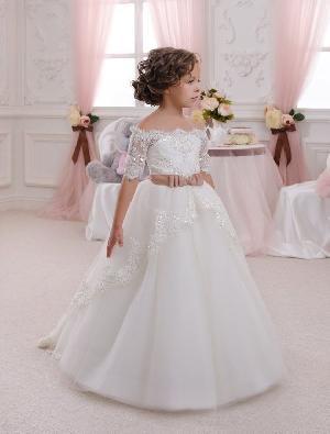 Flower Girl Dress=>Flower Girl Dress 04