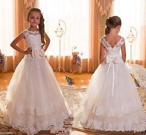 Flower Girl Dress=>Flower Girl Dress 14