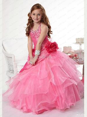 Flower Girl Dress=>Flower Girl Dress 22