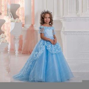 Flower Girl Dress=>Flower Girl Dress 23