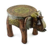 Iron Handmade Elephant Shaped Stool