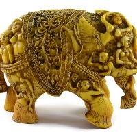 SKU-EIIR0032 Handmade Antique Resin Elephant Statue 02