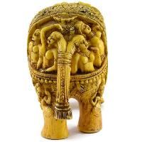SKU-EIIR0032 Handmade Antique Resin Elephant Statue 03