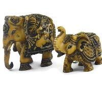 SKU-EIIR0135 Handmade Antique Resin Elephant Statue 01