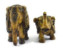 SKU-EIIR0135 Handmade Antique Resin Elephant Statue 02