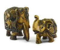 SKU-EIIR0135 Handmade Antique Resin Elephant Statue 03