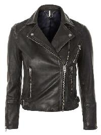 Ladies Black Fashion Leather Jackets