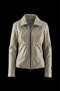 Ladies Off White Fashion Leather Jackets