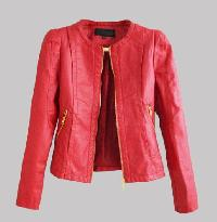 Ladies Red Fashion Leather Jackets