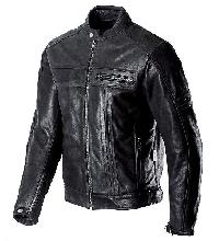 Mens Plain Black Leather Jackets