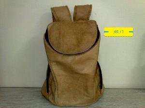 AR 17 Leather Backpack Bag