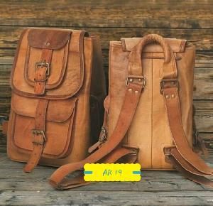 AR 19 Leather College Bag