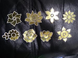 Diamond Foil Cut Work Patches