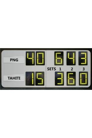 10 Digit Tennis Self Supporting Scoreboard