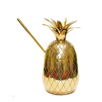 Brass Pineapple Mug