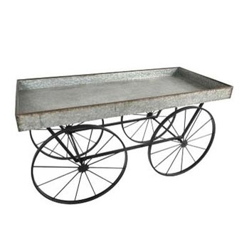Farmhouse Galvanized Cart