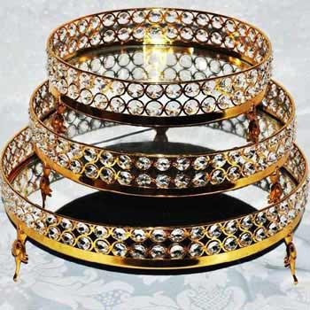 Iron Gold Plated Crystal Tray