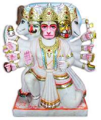 Fine Marble Panchmukhi Hanuman Ji