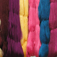 Viscose Rayon Dyed Hanks
