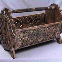 Wooden Magazine Baskets
