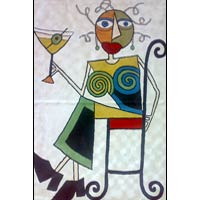 Picasso Chain Stitched Rug 01