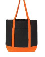 Beautiful Black & Orange Bag