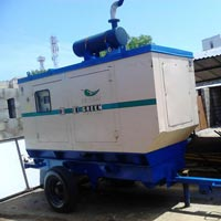Genset Fitted on Two Wheel Trolley