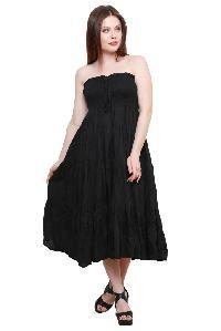 Ladies One Piece Dress - 5023 Black