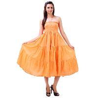 Ladies One Piece Dress - 5023 Orange