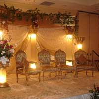 Lighted Pillars Stage