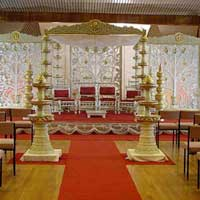 Mandap with Carved Backdrop