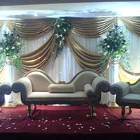 Wedding Stage Beige Themed