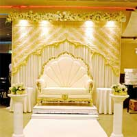 Wedding Stage Malaysian Themed