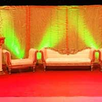 Wedding Stage with Low Back Sofa