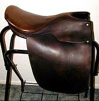 English Leather Horse Saddle