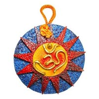 Om with Surya Wall Hanging