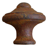 Rust Finish Knob