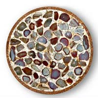 Mother of Pearl and Semi Precious Stone Table Top 04