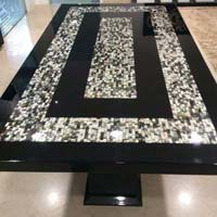 Mother of Pearl and Semi Precious Stone Table Top 09